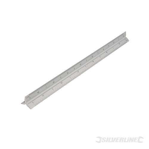 Silverline Aluminium Scale Tri Rule 300mm - Ruler 731001 -  aluminium scale rule tri 300mm silverline ruler 731001
