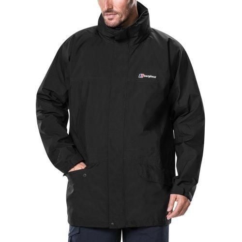 Berghaus Men's Iii Gore Tex Walking Shell Cornice Jacket, Black/Black, Large