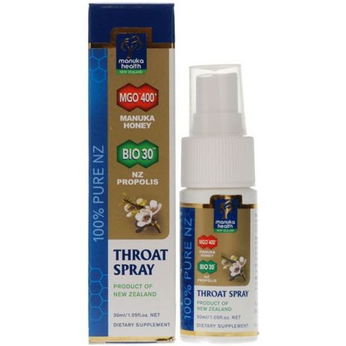 Manuka Health  Manuka Propolis Throat Spray Mgo400 (20 ) 30ml