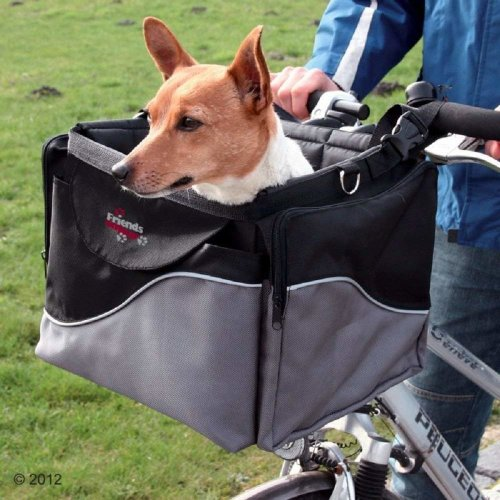 Bike Basket Dogs Pets Front Handlebars Shoulder Strap Robust Stable