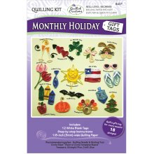 Quilled Creations Quilling Kit-Monthly Holiday Gift Tags