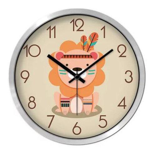 Lovely Cartoon Circular Personality Clock Living Room Decorative Silent Round Wall Clocks, NO.3