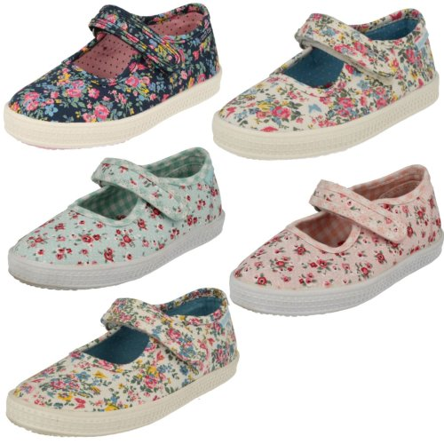 Girls Startrite Canvas Pumps Posy - F Fit