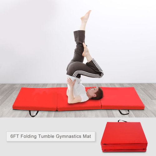 6FT Fold Tumble Gymnastics Mat 2'' Thick Yoga Exercise