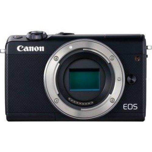 """Canon Eos M100 24 Megapixel Mirrorless Camera Body Only Black 7.6 Cm 3"""" Tou 2209C041"""
