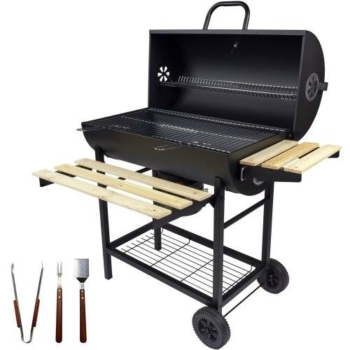Charles Jacobs Large Charcoal Barrel BBQ With Smoker & Accessories