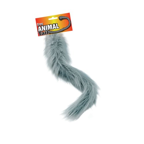"Long 20"" Fake Fur Tail (Grey)"