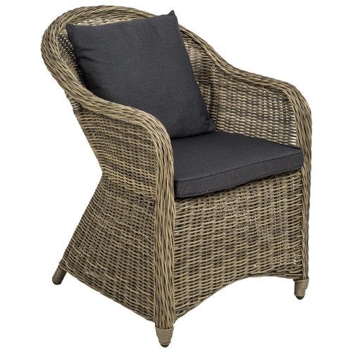 dead286b8c17 Aluminium rattan luxury garden chair + cushion and back cushions... on OnBuy
