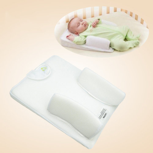 Born Baby Sleep Positioner Prevent Flat Head Shape Anti Roll Pillow