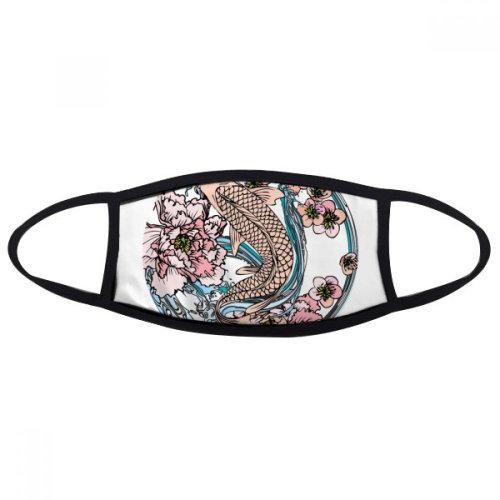 Carp Pink Lotus Pattern Geometry Face Anti-dust Mask Anti Cold Maske Gift
