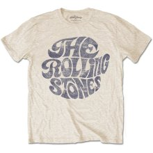 e2f1c54a1 Rolling Stones Men's Vintage 70's Logo Short Sleeve T-shirt, Beige,  Xx-large - - mens tshirt rolling stones vintage 70s logo metallica hardwired