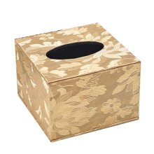 Continental Leather Tissue Box Square Wood Tissue Box