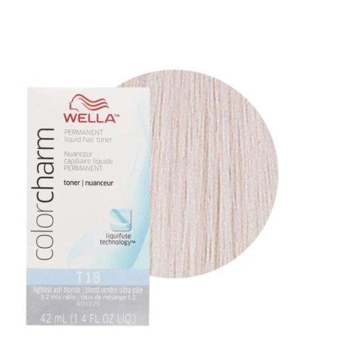 Wella Color Charm Permanent Liquid Hair Toner - T18 Lightest Ash Blonde