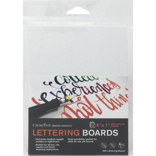 """Crescent Lettering Board 3/Pkg-5""""X7"""" White"""