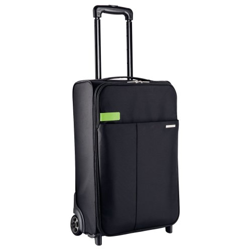 Leitz Smart Traveller Luggage | 2-Wheel Black Polyester Trolley Bag