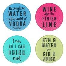 Slogan Glass Coasters