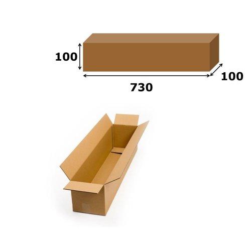 10x Postal Cardboard Box Long Mailing Shipping Carton 730x100x100mm Brown