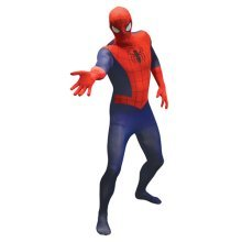 Marvel Comics Spider-Man Adult Unisex Basic Cosplay Costume Morphsuit - Large - Multi-Colour (MLSPMVL-L)
