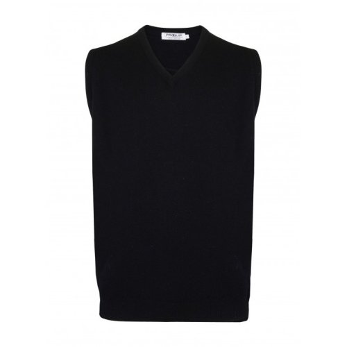 ProQuip V Neck Lambswool Water Repellent Sleeveless Jumper