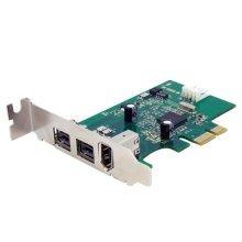 StarTech 3 Port 2b 1a Low Profile 1394 PCI-E FireWire Card