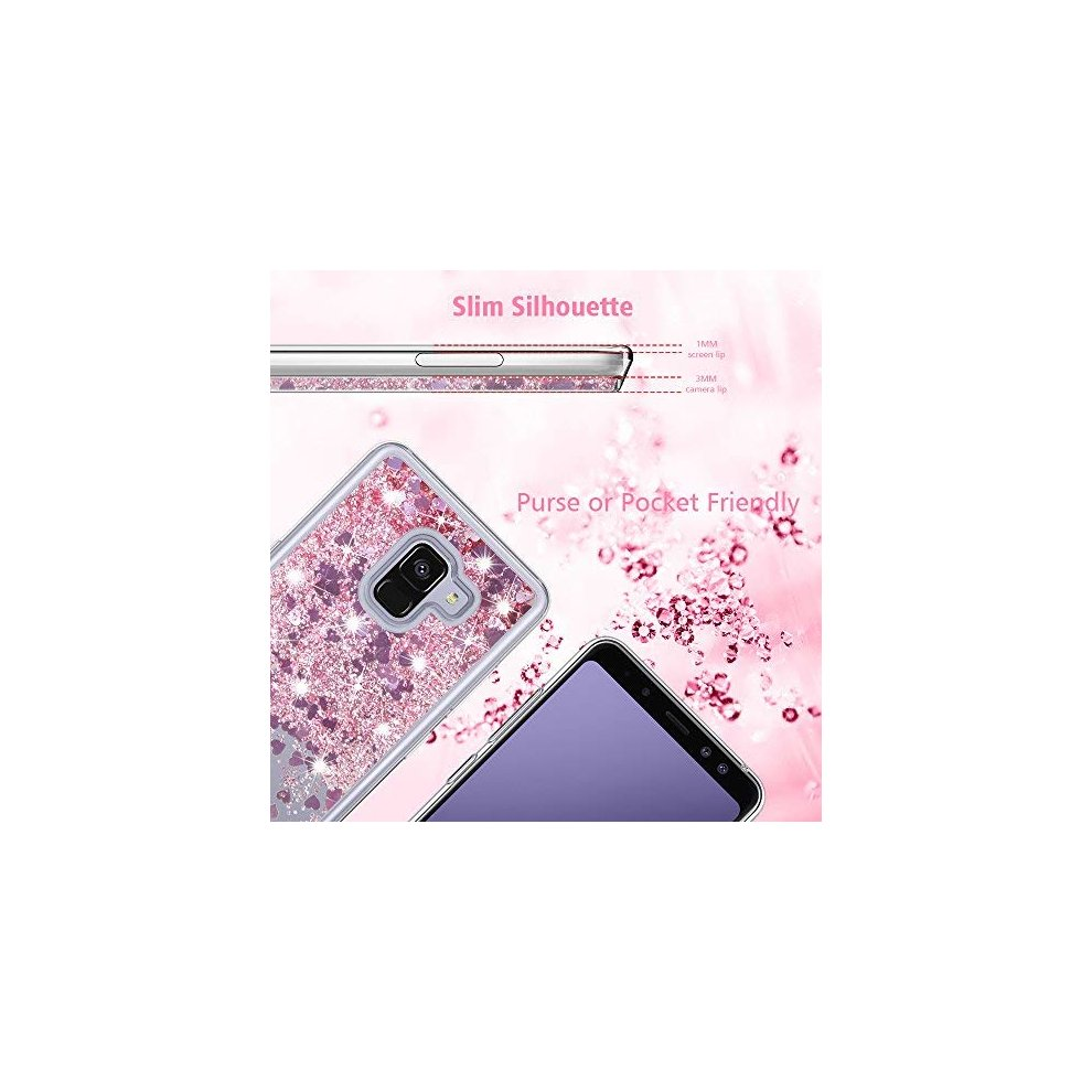 881bce19c631d5 ... LK Case for Samsung Galaxy A8 Plus 2018, Slim Shiny Bling Glitter Heart  Cute Luxury ...