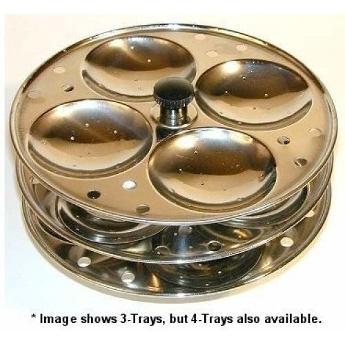 Indian Idli (Rice Cake) Steamer - 4 Tray