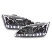 Daylight headlight  Ford Focus 4/5-door. Year 05-08 chrome