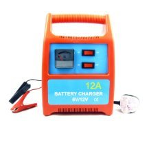 Megastore247 - Battery Charger 12A - Portable & Heavy Duty - For Car, Van & Boat