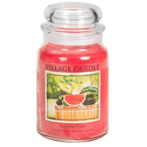 Village Candle 26oz Scented American Large Jar Candle with Double Wick Summer Slices