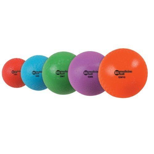 Champion Sports Gel Filled Medicine Ball 2 Pound Red