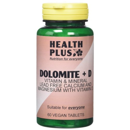 Health Plus Dolomite + D Mineral Supplement - 2 X Packs Of 60 Tablets (120 Tablets)
