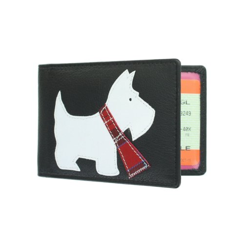 Mala Leather Best Friends Collection Leather Travel Card Holder 638TC_65 Black