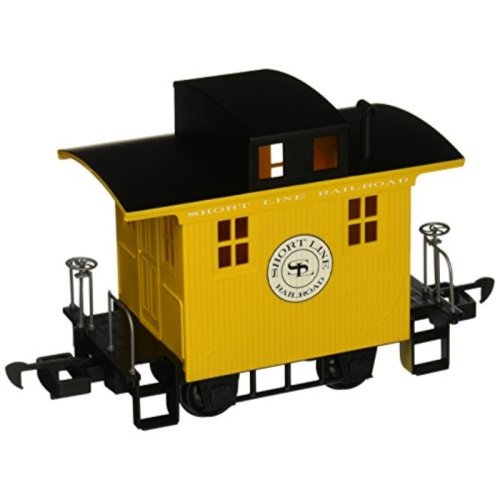 Bachmann Industries LiL Big Haulers Caboose G-Scale Short Line Railroad with Yellow/Black Roof, Large