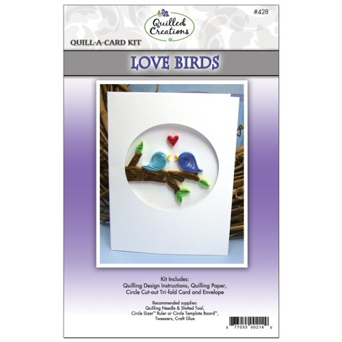 Quilled Creations Quill-A-Card Kit-Love Birds
