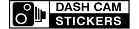 Dash Cam Stickers